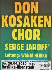 Don Kosaken Gala-Konzert 2020 WIRD VERLEGT